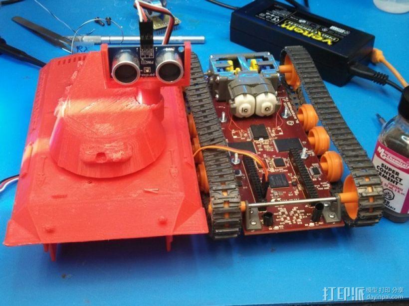 Logitraxx履带式坦克机器人 3D模型  图6