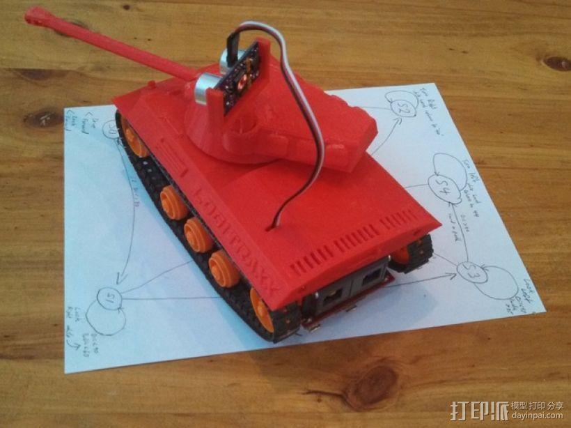 Logitraxx履带式坦克机器人 3D模型  图7