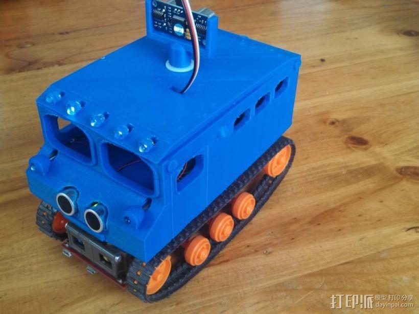 Logitraxx履带式坦克机器人 3D模型  图14