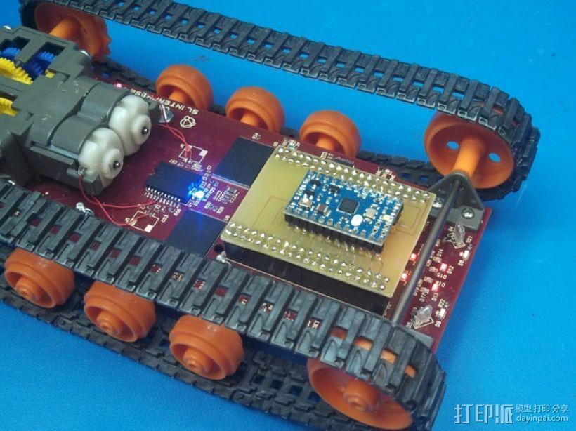 Logitraxx履带式坦克机器人 3D模型  图16