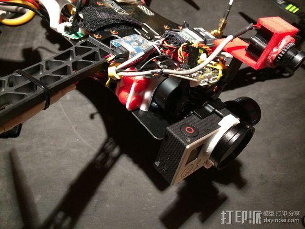 TBS航拍多轴飞行器 支架 3D模型  图2