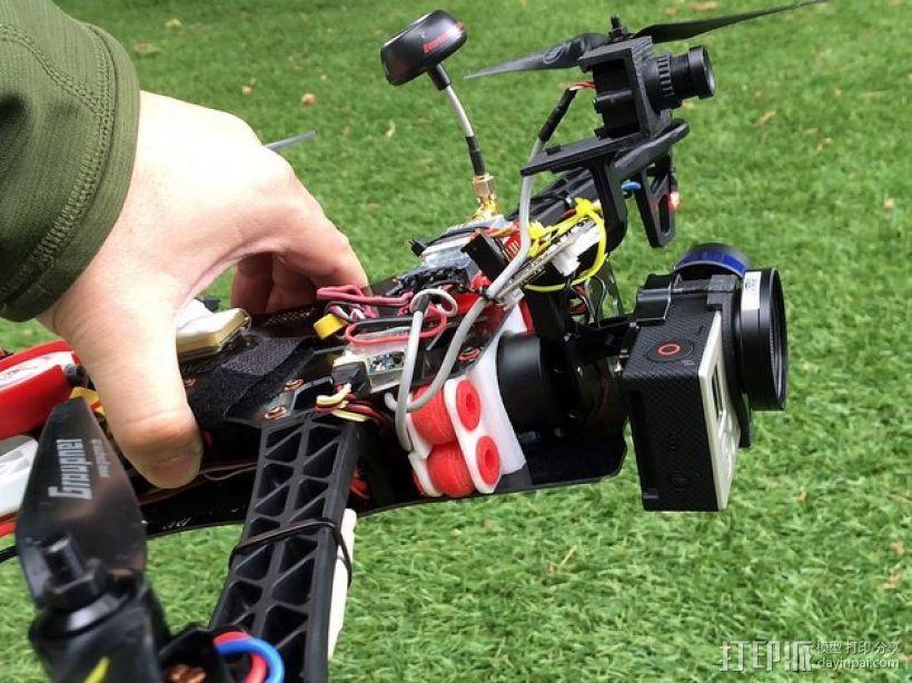 TBS航拍多轴飞行器 支架 3D模型  图1
