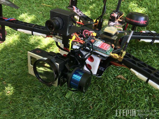 TBS航拍多轴飞行器 支架 3D模型  图12