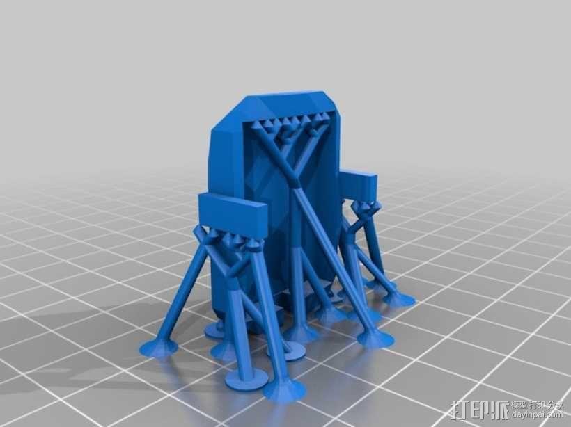 航拍多轴飞行器 3D模型  图3