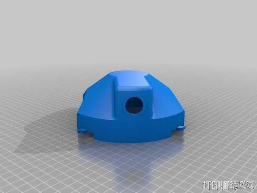 DJI F450四轴飞行器 防水上盖和顶板  3D模型  图3
