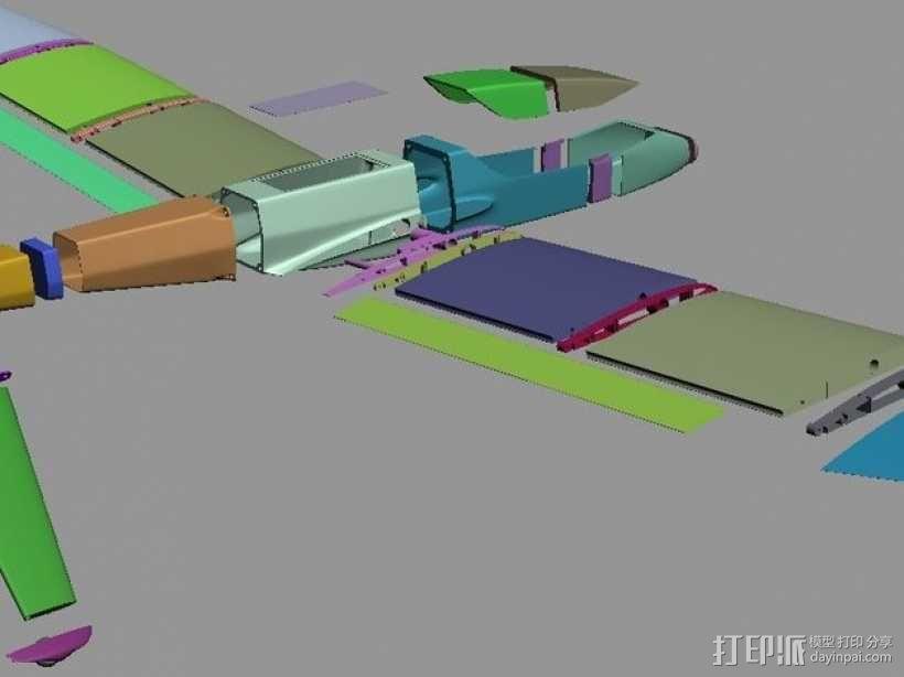 FPV/UAV飞机 3D模型  图1