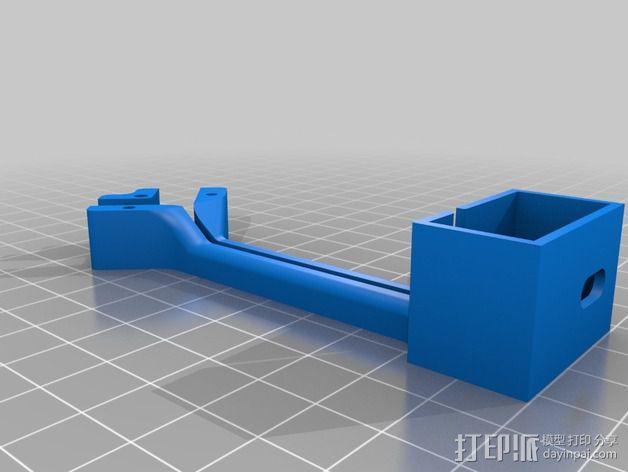 FrSky X8R/X6R接收机天线支架 3D模型  图2