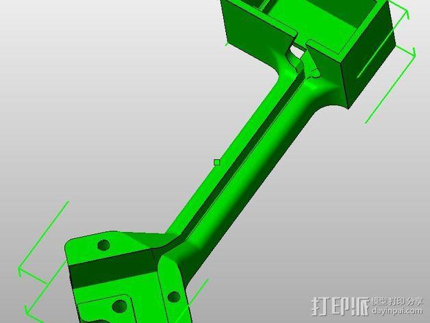 FrSky X8R/X6R接收机天线支架 3D模型  图4