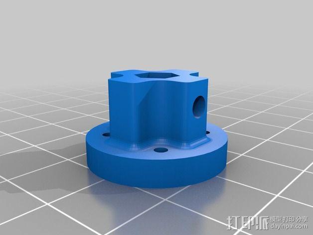 蜗轮减速器  3D模型  图4