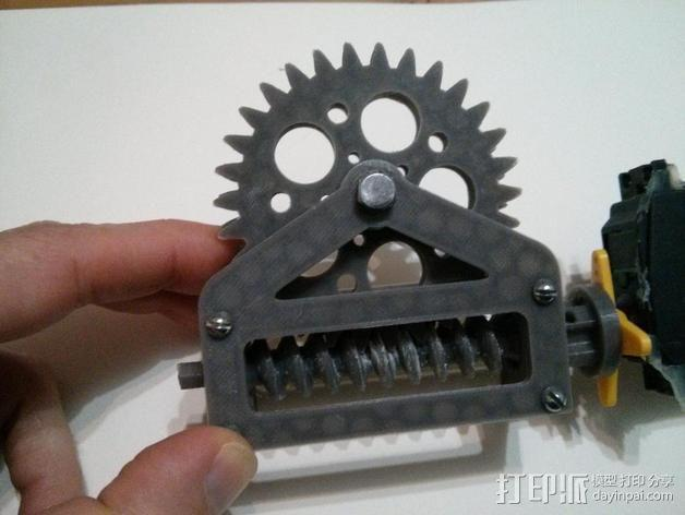 蜗轮减速器  3D模型  图9