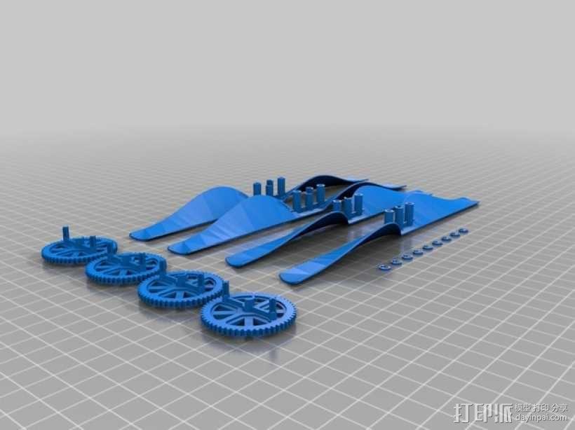 无人机零部件 3D模型  图1