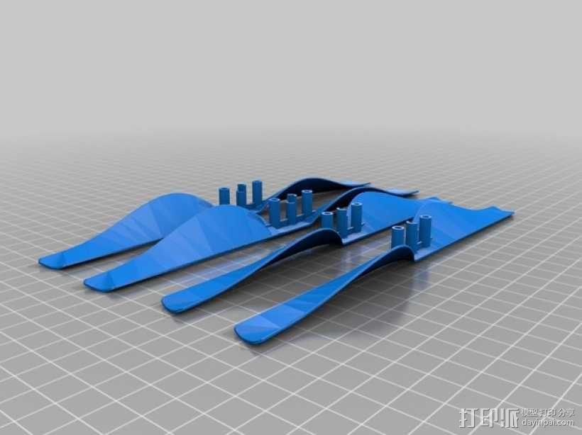 无人机零部件 3D模型  图4