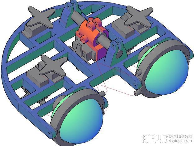 机械电子眼 3D模型  图2