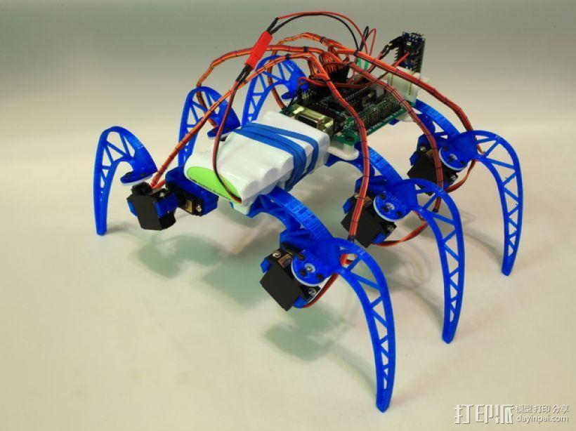 模块化仿昆虫机器人 3D模型  图1