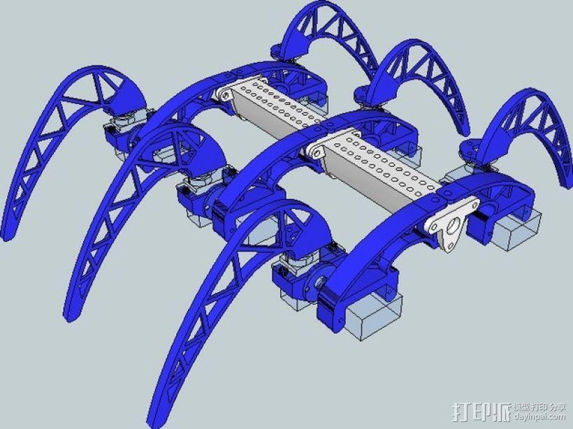 模块化仿昆虫机器人 3D模型  图5