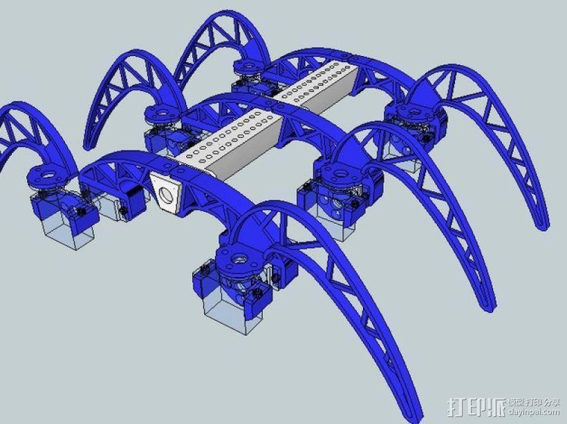 模块化仿昆虫机器人 3D模型  图4