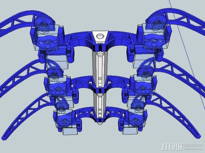 模块化仿昆虫机器人 3D模型  图6
