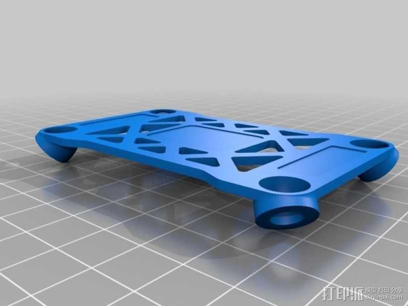 Pixhawk飞行控制器 防振支架 3D模型  图1
