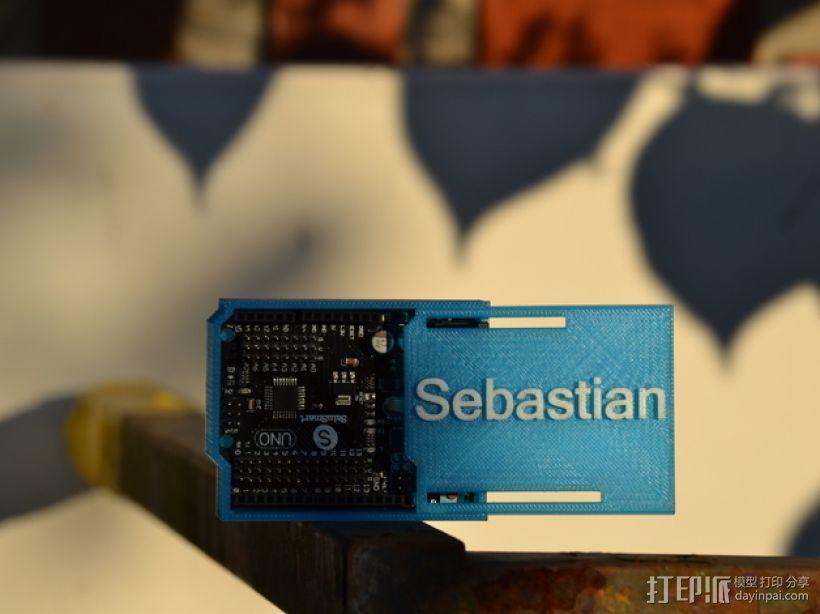 Arduino Uno微控制器外壳 3D模型  图1