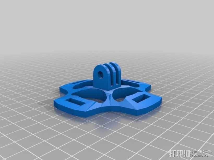 gopro相机 通用支架  3D模型  图3
