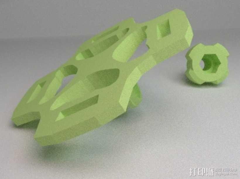 gopro相机 通用支架  3D模型  图2
