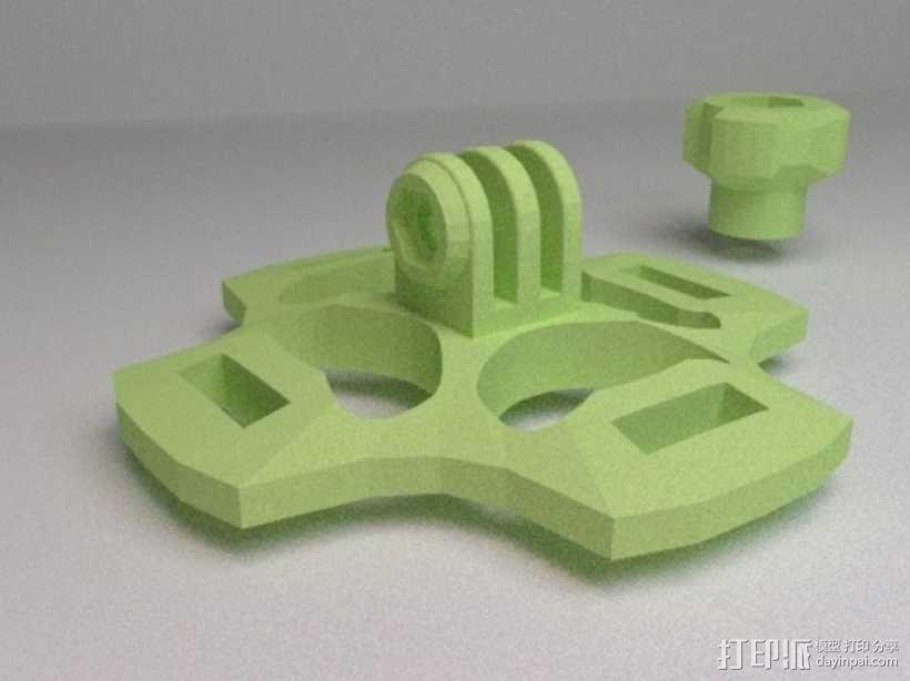 gopro相机 通用支架  3D模型  图1