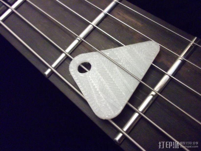 定制化琴拨 3D模型  图1
