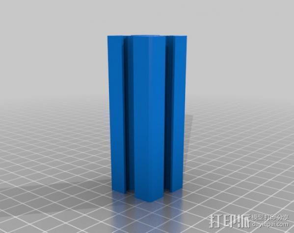 25毫米铁轨 3D模型  图2