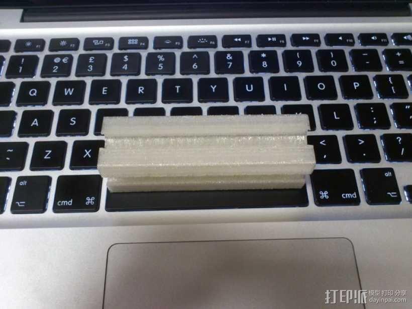 25毫米铁轨 3D模型  图4