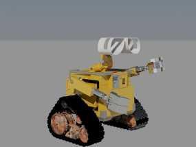 瓦力机器人 3D模型