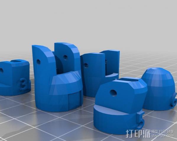 InMoov机械手指 3D模型  图5
