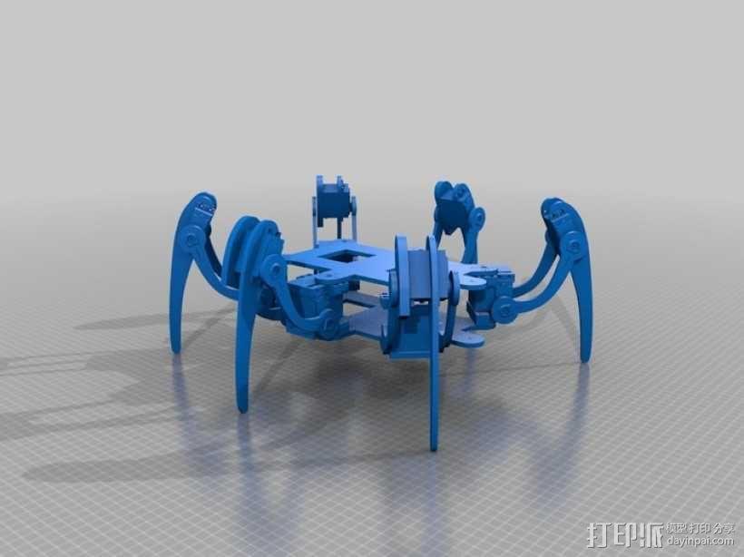 六足仿昆虫机器人 3D模型  图1