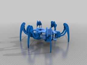 六足仿昆虫机器人 3D模型