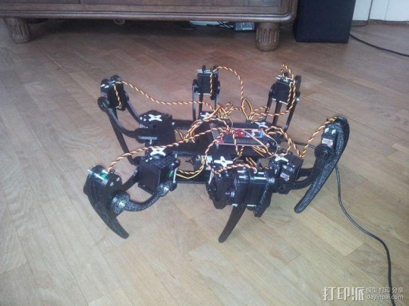 六足仿昆虫机器人 3D模型  图4