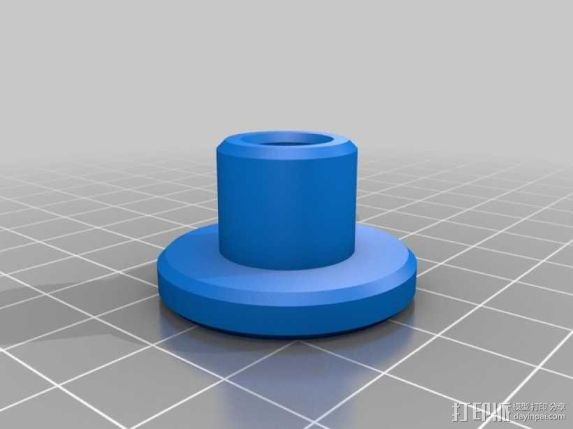 雪上滑板鞋 3D模型  图2