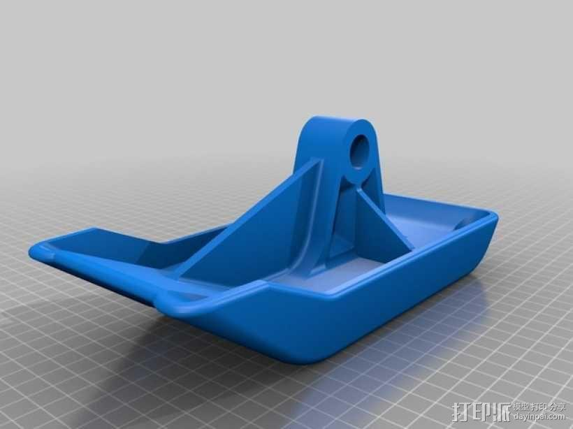 雪上滑板鞋 3D模型  图3
