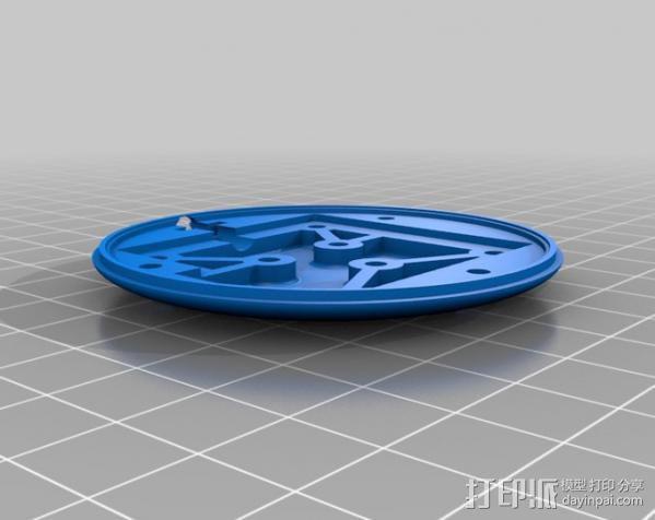 模块化Ublox定位系统外壳 3D模型  图1