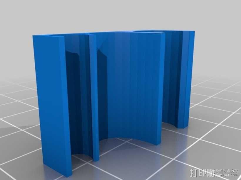 钓鱼杆固定夹 3D模型  图3