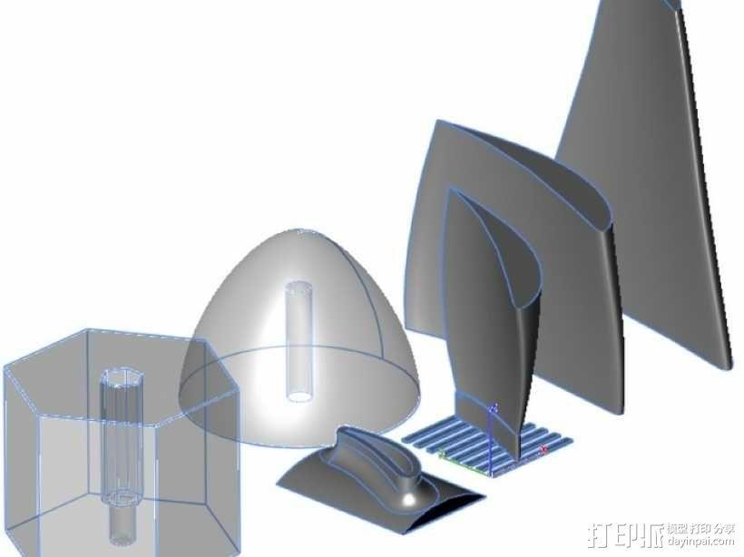 六叶风扇 3D模型  图4