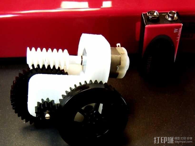 蜗轮齿轮 齿轮箱 3D模型  图2