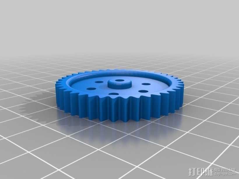蜗轮齿轮 齿轮箱 3D模型  图3