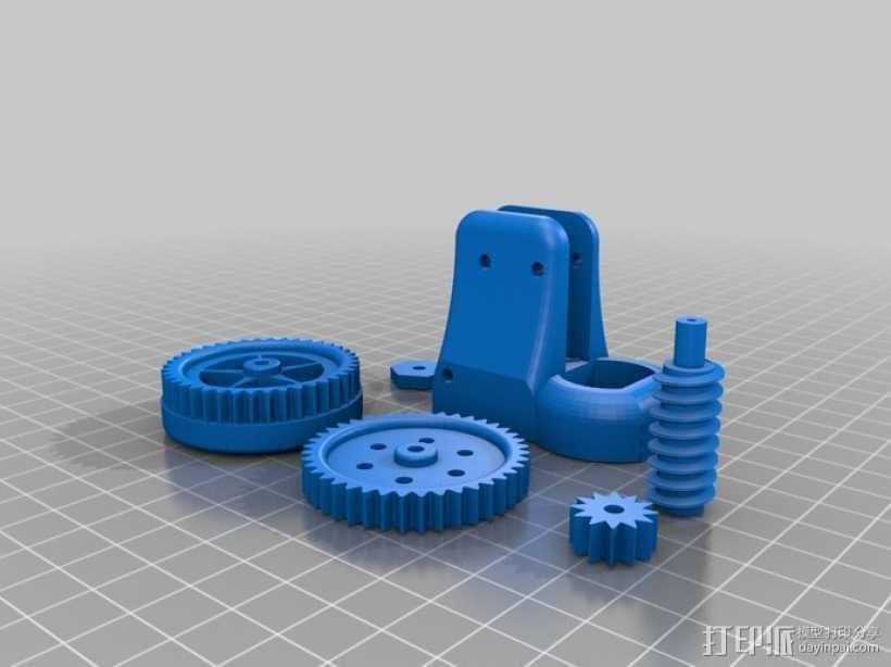 蜗轮齿轮 齿轮箱 3D模型  图1