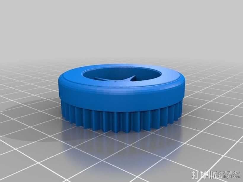 蜗轮齿轮 齿轮箱 3D模型  图4