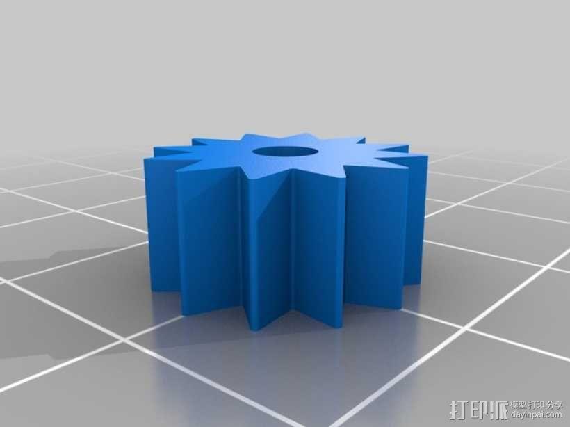 蜗轮齿轮 齿轮箱 3D模型  图5