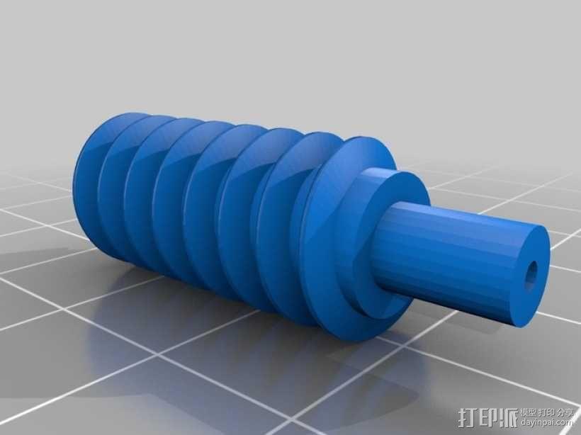 蜗轮齿轮 齿轮箱 3D模型  图7