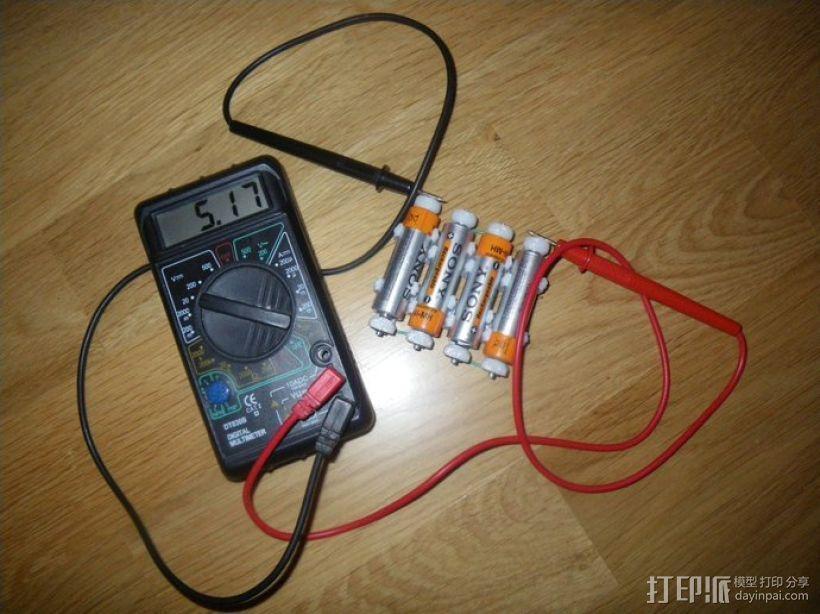AA&AAA电池盒 3D模型  图5