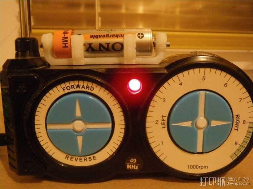 AA&AAA电池盒 3D模型  图4