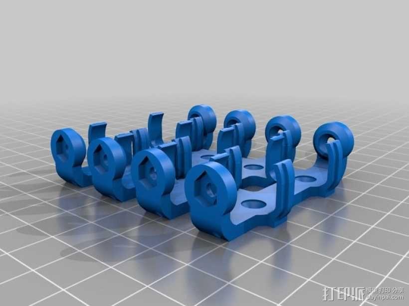 AA&AAA电池盒 3D模型  图11