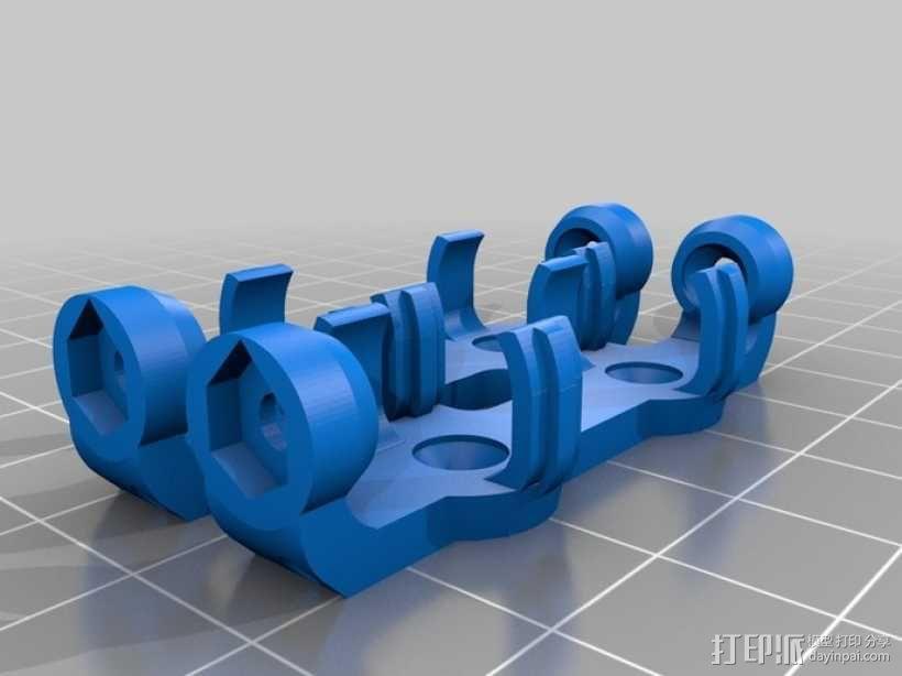AA&AAA电池盒 3D模型  图13