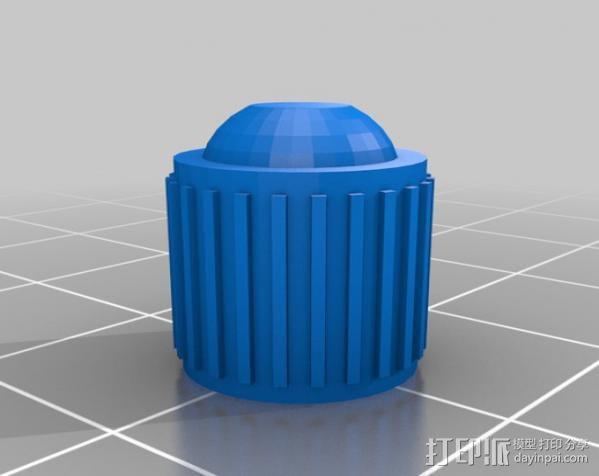 轮胎阀杆帽 3D模型  图2